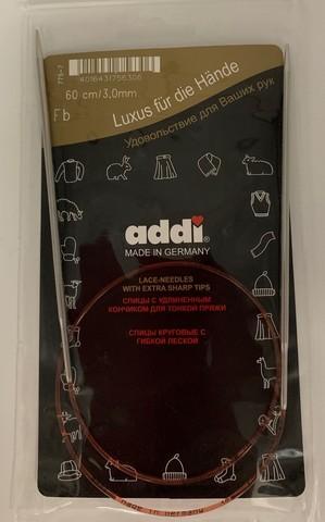 Спицы круговые с удлиненным кончиком, №3, 60 см ADDI Германия арт.775-7/3-60