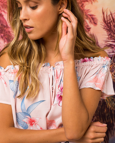 RIP CURL Infusion Flower Shirt