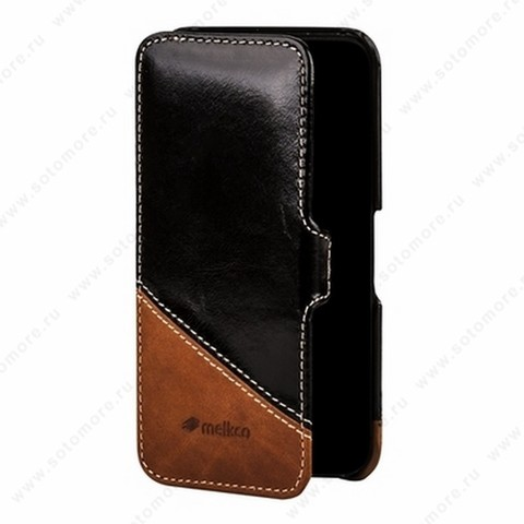 Чехол-книжка Melkco для iPhone SE/ 5s/ 5C/ 5 Leather Case Booka Type Mix and Match Series (Vintage Black/ Classic Vintage)