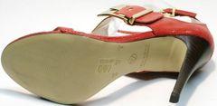 Стильные женские босоножки на шпильке Via Uno1103-6605 Red.