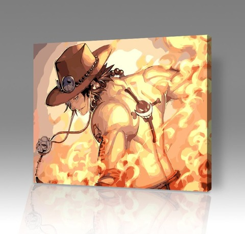 Картина по номерам на холсте One Piece: Портгас Д. Эйс, 40см*50см