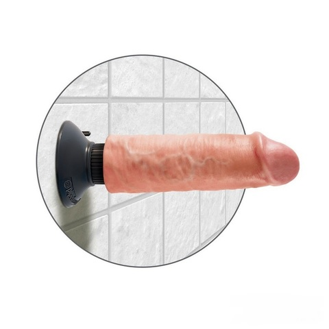 Вибратор King Cock 6 Vibrating Cock Flesh длина 17,8 см диаметр 4,8 см