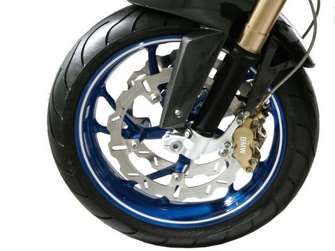Стикеры для обода колеса - белый