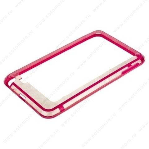 Бампер VSER для Samsung Galaxy Note N7000 розовый