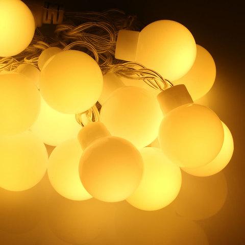 Светодиодная гирлянда большие шарики 20 LED