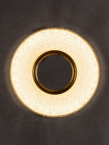Светильник встраеваемый 8121-9W-GO+Диодная подсветка Золото