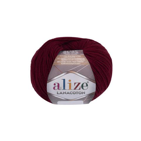 Купить Пряжа Alize Lanacoton Код цвета 390 Вишня | Интернет-магазин пряжи «Пряха»