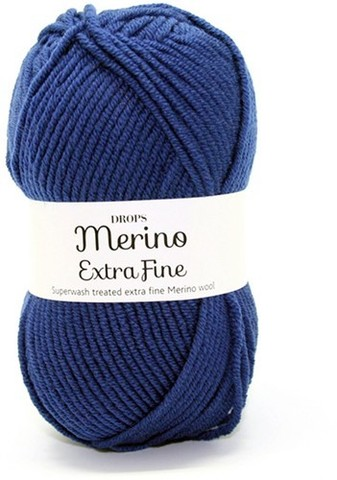 Пряжа Drops Merino Extra Fine 20 темно-синий