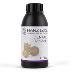 Фотография — Фотополимер HARZ Labs Dental Sand (A3), бежевый (500 гр)
