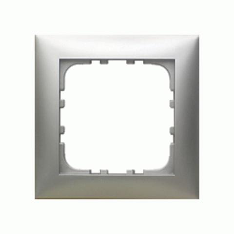 Рамка на 1 пост. Цвет Серебристый металлик. LK Studio LK60 (ЛК Студио ЛК60). 864103