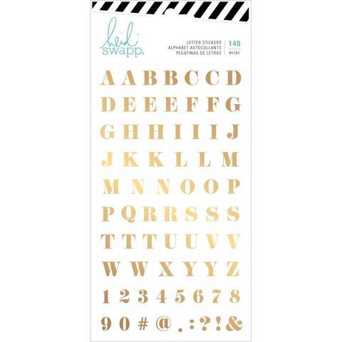 Стикеры Heidi Swapp Emerson Lane Stickers -Alphabet W/Gold Foil