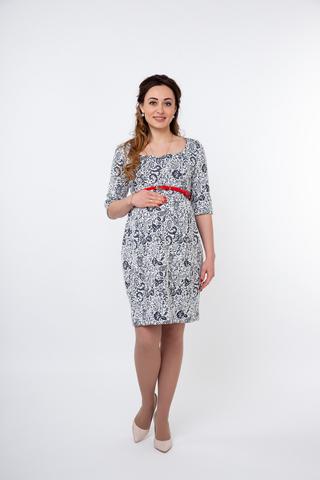 Платье для беременных и кормящих 10036 белый