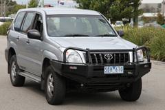 Силовой бампер Black Commercial Toyota L. Prado 120