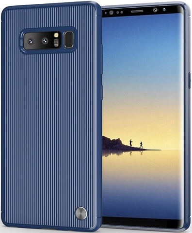 Чехол Samsung Galaxy Note 8  цвет Blue (синий), серия Bevel, Caseport