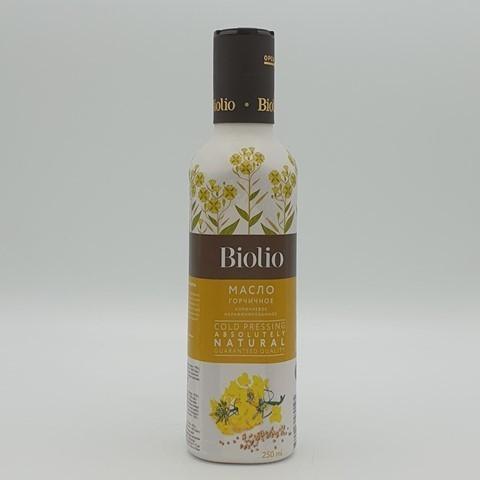 Масло горчичное коричневое нерафинированное BIOLIO, 250 мл