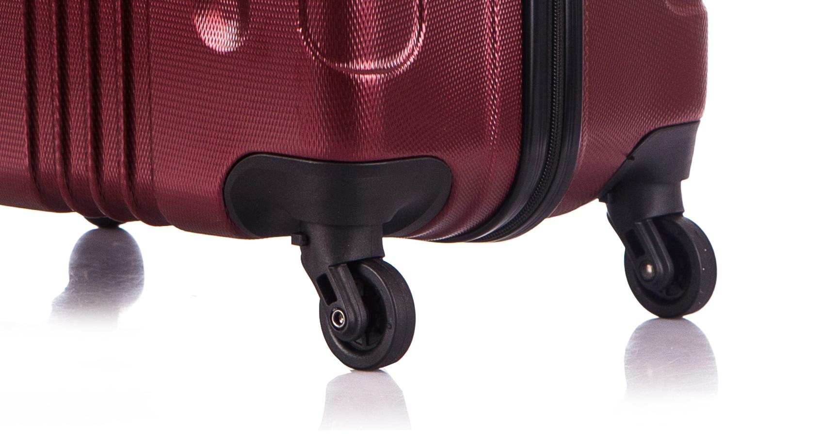 Чемодан со съемными колесами L'case Bangkok-22 Бордовый (M)