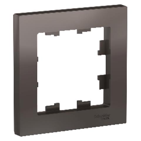 Рамка на 1 пост. Цвет Мокко. Schneider Electric AtlasDesign. ATN000601