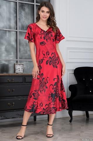 Длинная женская сорочка MIA-AMORE Da Vinci Да Винчи 8448 красная