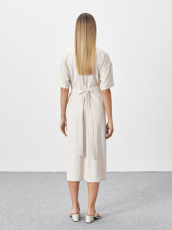 Платье-кимоно Rina, Молочный