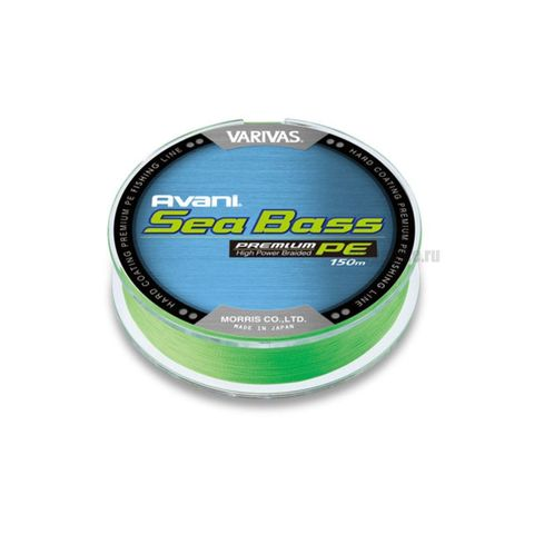Плетёная леска Varivas Avani Sea Bass (PE4) -  #1 - 150 m (Green)