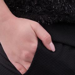 Вилена. Элегантный костюм больших размеров. Черный.
