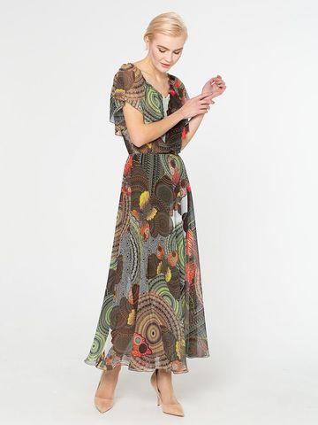 Фото расклешенная цветная юбка французской длины на подкладке - Юбка Б081-736 (1)