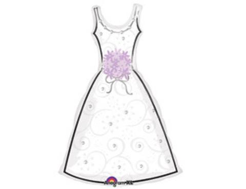 Фольгированный шар Платье белое