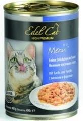 Консервы для кошек Edel Cat нежные кусочки в соусе, лосось, форель