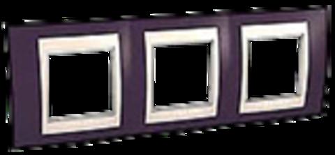 Рамка на 3 поста. Цвет Гранат/Белый. Schneider electric Unica Хамелеон. MGU6.006.872