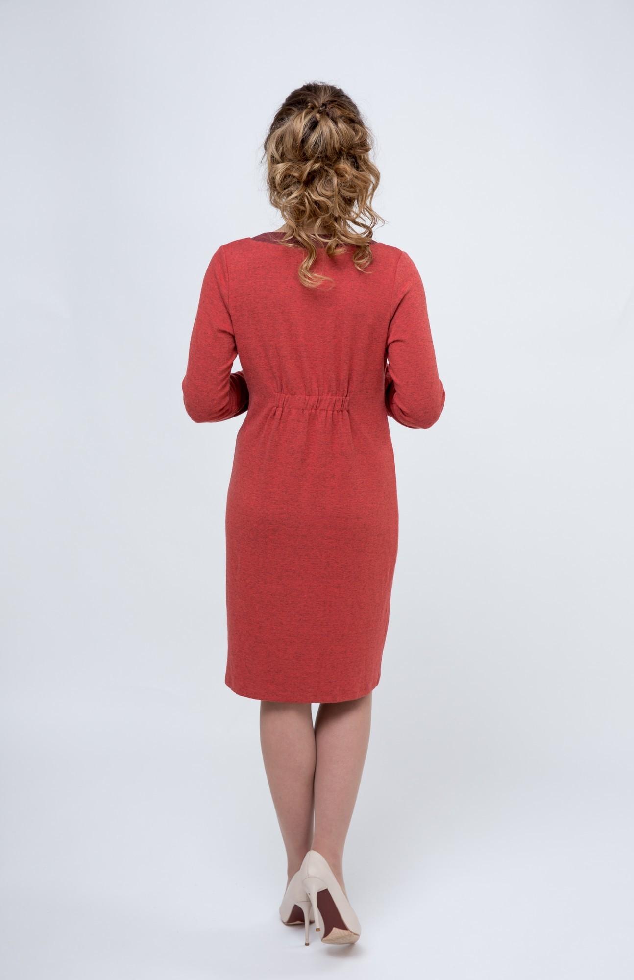 Фото платье для беременных и кормящих GEMKO от магазина СкороМама, красный, размеры.
