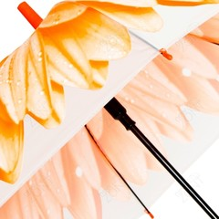 Детский зонтик-трость оранжевый цветок со свистком