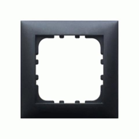 Рамка на 1 пост. Цвет Чёрный бархат. LK Studio LK60 (ЛК Студио ЛК60). 864108