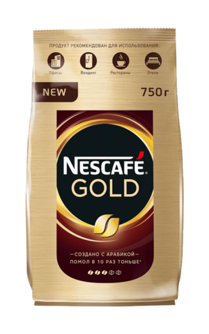 Кофе растворимый Nescafe Gold, пакет, 750 г