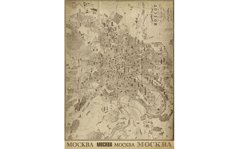 Рисовая бумага для декупажа План Москвы, А3