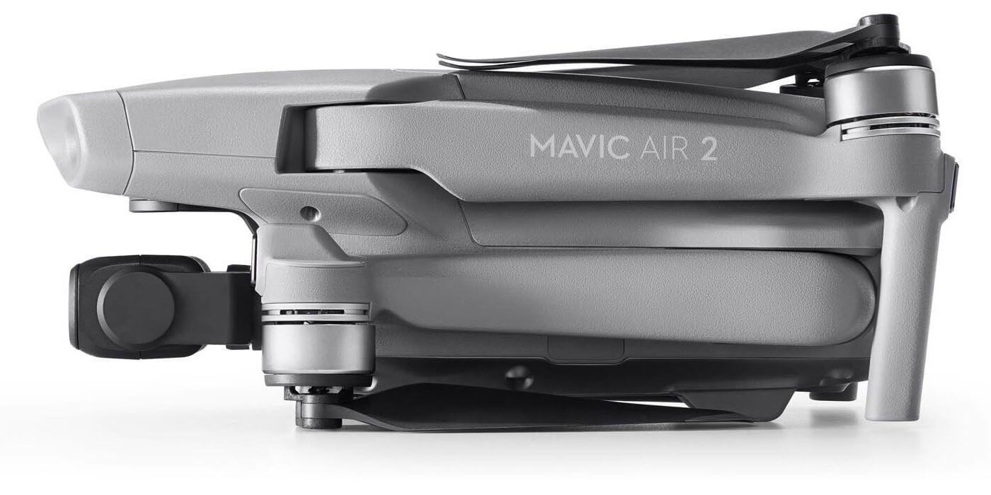 Квадрокоптер DJI Mavic Air 2 Fly More Combo сложен вид сбоку