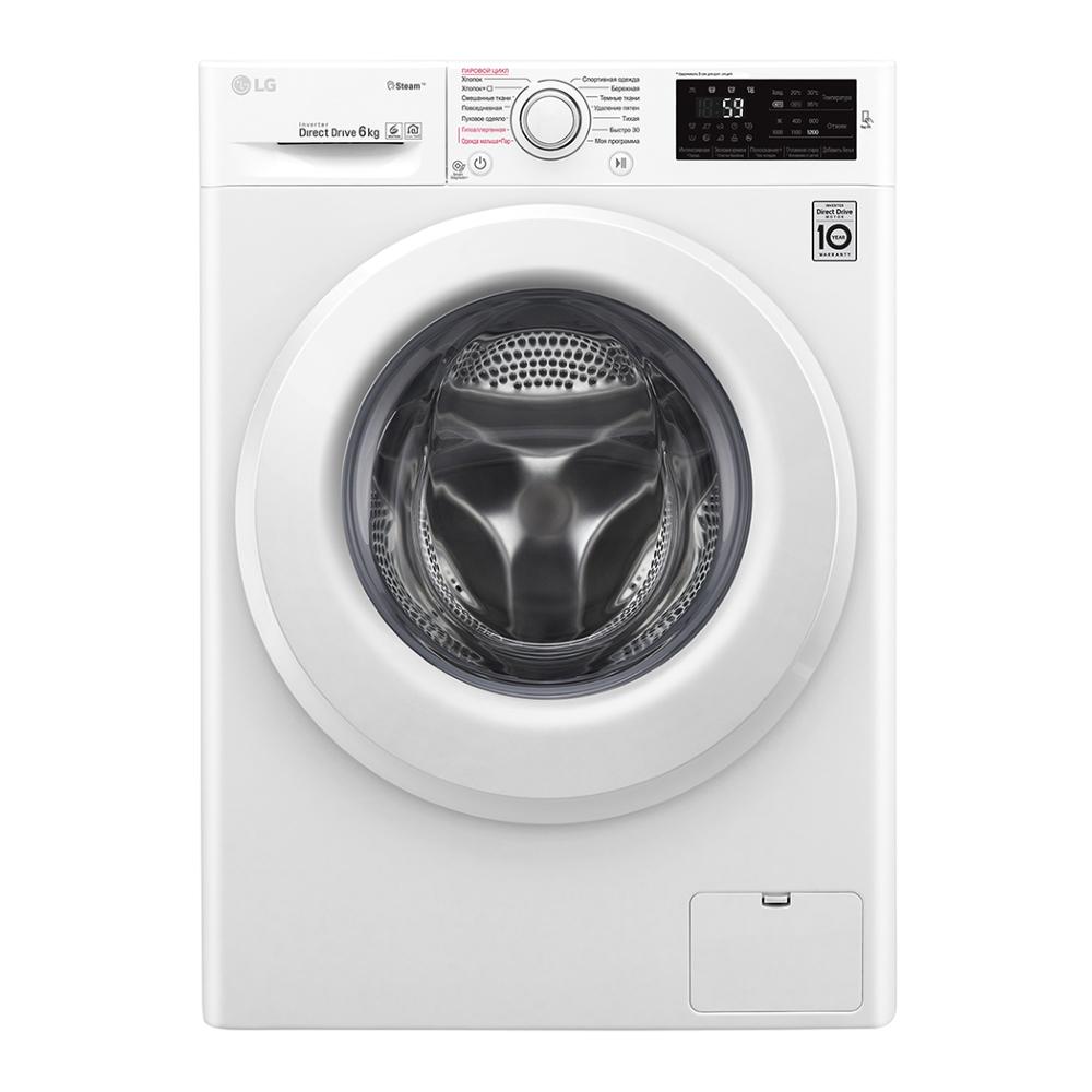 Узкая стиральная машина LG с функцией пара Steam F2M5NS3W фото