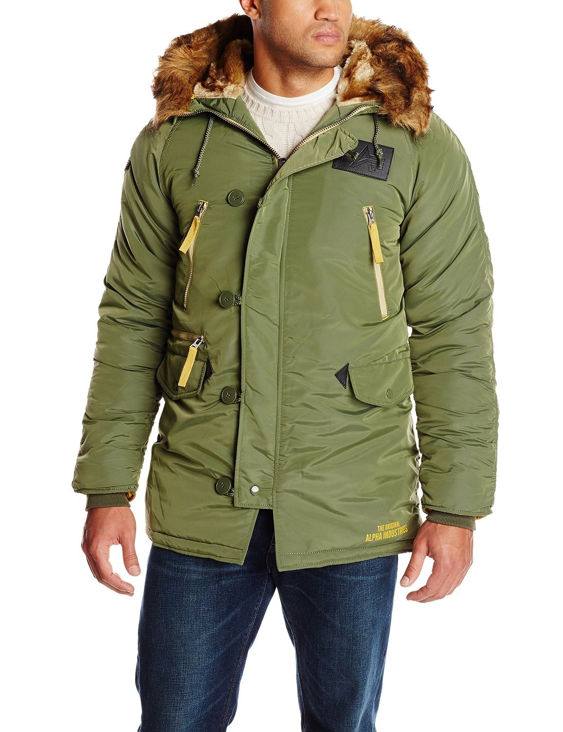 Куртка Аляска - N-3B Inclement Parka (оливковая - D.green)