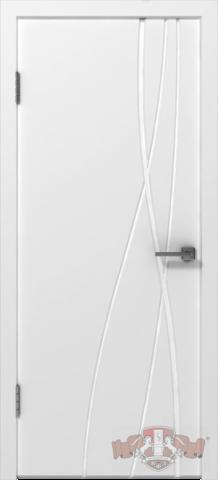 Дверь Владимирская фабрика дверей 24ДГО - Авангард Т1, цвет белая эмаль, глухая