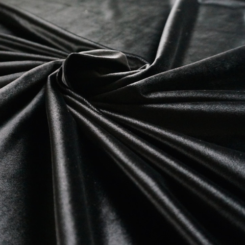 Бархат - черный оптом. Ш-280 см. Арт. KB-09