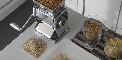 Мельница для зерна и солода, домашняя, ручная Marga Mulino, нержавеющая сталь