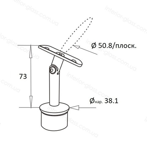 Верхний элемент стойки D=38,1 мм ST-421 с регулируемым ложементом