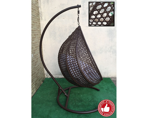 Плетеное кресло Арриба Cross коричневое