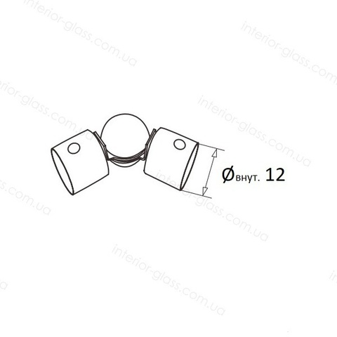 Шарнирный соединитель леера D=12 мм ST-429