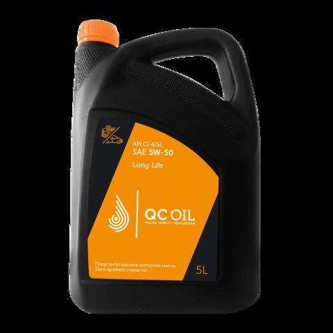 Моторное масло для грузовых автомобилей QC Oil Long Life 5W-50 (полусинтетическое) (5л.)