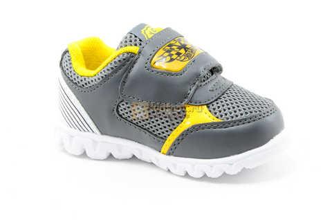 Светящиеся кроссовки для мальчиков Хот Вилс (Hot Wheels), цвет темно серый, мигают картинки сбоку и на липучках. Изображение 2 из 12.
