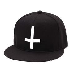 Кепка крест черная (Бейсболка крест черная)