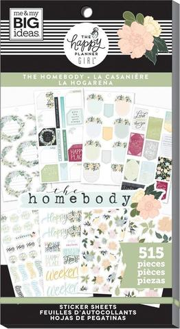 Блокнот со стикерами для ежедневника -Happy Planner Sticker Value Pack-  Homebody, 515 шт