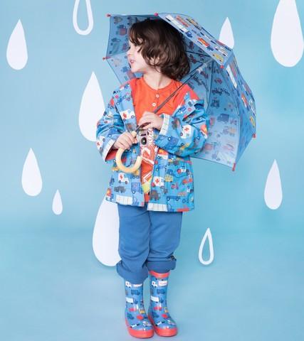 Плащ дождевик для мальчика Hatley машинки