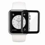 Защитное стекло 3D на весь экран Full Glue для Apple Watch 38 мм (Черная рамка)