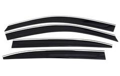 Дефлекторы боковых окон Fresh Wind для Opel Antara (2010-2017) с нержавеющим молдингом № BCVCP0923